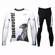 paladinsport printemps et été et l'automne de style 100% polyester aigle blanc à manches longues des hommes maillots de cyclisme