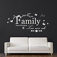jiubai® familie citaat muursticker muurtattoo