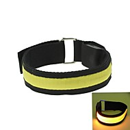 LED verlichting arm band riem armband geel (2xcr2032)