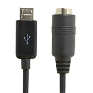 Micro USB Male to Stereo 3.5mm Female Car AUX Out Cable for Galaxy S4 Note2 s5 i9600 & Note3 N9000 Free shipping