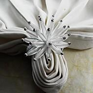 anel de acrílico flor guardanapo, acrílico, 4,5 centímetros, conjunto de 12