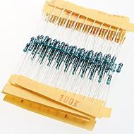 1 / 4W resistores de filme de metal resistência 1% 10r-1m (30 x 10pcs)