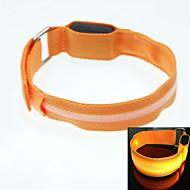 LED Light Screen Arm Band Strap Armband Orange (2xCR2032)
