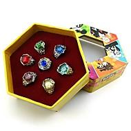 Biżuteria Zainspirowany przez Reborn! Cosplay Anime Akcesoria do Cosplay pierścień Červená / Žlutý / Modrá / Fioletowy / Zelená / Srebrny