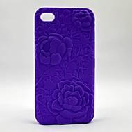 3d impressi a secco le casse del telefono rose per iphone5 / 5s (colori assortiti)