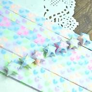 Materiales origami lucky star 30 pcs efecto fluorescente modelo del corazón (color al azar)