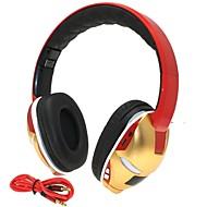 salut-fi homme de fer de 3,5 mm tf fente pour carte basse pliable musique casque stéréo sans fil Bluetooth avec micro tf fm aux