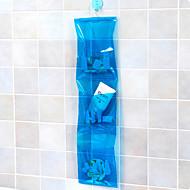 háromszintű pvc lógó tároló zsák (véletlenszerű szín)