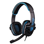 SADES SA-708 Headphone 3.5mm  Over Ear Gaming with Microphone and Remote Control for PC
