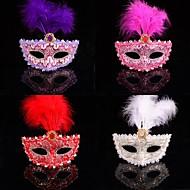 mode couleur plume masque dentelle de carnaval