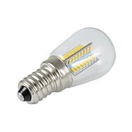 ON Dekorativ LED-Glühlampen A60 E14 3 W 200LM LM 2800-3200 K 64 SMD 3014 Warmes Weiß AC 220-240 V