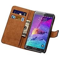 Echtleder Geldbörse Fall für Samsung Galaxy Note 4 n9100