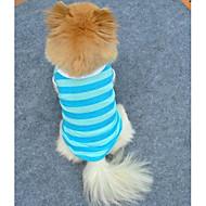 Kissat / Koirat T-paita Punainen / Sininen Koiran vaatteet Kesä 스트라이프 Cosplay