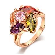 Κρίκοι Πάρτι / Καθημερινά / Causal Κοσμήματα Κράμα / Ζιρκονίτης Γυναικεία Εντυπωσιακά Δαχτυλίδια6 / 7 / 8Χρυσαφί / Κίτρινο / Κόκκινο /