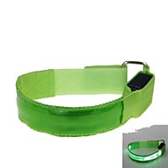 LED Light Color Lattice Arm Band Strap Armband Green (2xCR2032)