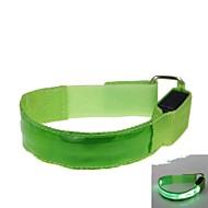녹색 LED 빛 컬러 격자 팔 밴드 스트랩 완장 (2xcr2032)