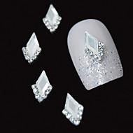 10db fehér marquise 3d hegyikristály DIY ötvözet kiegészítők Nail Art dekoráció