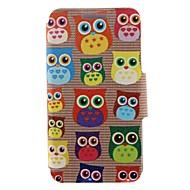 For Nokia Case Card Holder / Flip Case Full Body Case Owl Hard PU Leather Nokia Nokia Lumia 630