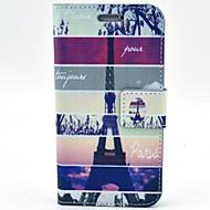 For Samsung Galaxy etui Kortholder Med stativ Flip Mønster Etui Heldækkende Etui Eiffeltårnet Kunstlæder for Samsung S5 Mini