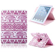 Pink Elephant Pattern PU Leather Full Body Case with Card Slot and Stand for Apple iPad Air