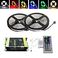 10M 150X5050 SMD RGB LED Strip Light and 44Key Remote Controller and 5A Power Supply (AC110-240V)