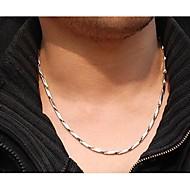 Nyakláncok Geometric Shape Rozsdamentes acél Titanium Acél jelmez ékszerek Ékszerek Kompatibilitás Esküvő Parti Napi Hétköznapi