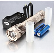 LED Flashlights/Torch / Handheld Flashlights/Torch LED 5 Mode 2400 Lumens Adjustable Focus / Waterproof / Rechargeable / Nonslip grip