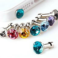 fem diamant anti-damm plugg (slumpvis färg)