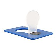 luz de la tarjeta ultra-delgada blanca natural lámpara bolsillo LED (azul)