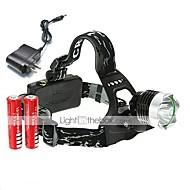 Cykellys LED 3 Tilstand 1600 Lumens Genopladelig / Lygtehoved Cree XM-L T6 18650Camping/Vandring/Grotte Udforskning / Dagligdags Brug /