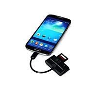 3 in 1 Micro USB liitäntä kortinlukija tukee USB 2.0 T-flash sd mmc kortti OGT matkapuhelin