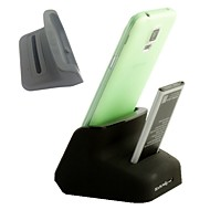 Dual Sync Battery Charger Cradle Dock Station Stand for Samsung S4 i9500