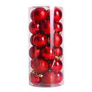 24pcs plaqué nochi 4cm boules de noël boule de noël lumière balle décorations de noël de balle (de couleur assortie)
