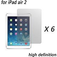 [6-pack] premium de alta definición protectores de pantalla claras para ipad aire 2