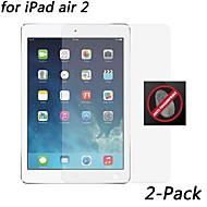 [2-pack] hd anti-huella digital protector de pantalla resistente para ipad aire 2