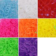 600pcs szövőszék világító divat gumikarika (1package s klip)