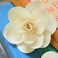 Qihang Furnier getrocknete Blume beige stieg Fotografie Requisiten (1 Stück)