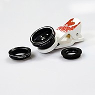0.65X Wide with Angle and 10X Ultra Clear Macro,180 Degree Fisheye Cartoon Pictures for Mobile Phone