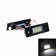 4w 24x3528 SMD hvidt lys LED nummerplade lys til E63 E64 E81 E87 E85 (DC 12V)