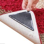 8 stykker fantastiske genanvendelige vaskbart trekant non slip skid tæppe gribere tæppe mat klistermærker