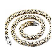 Sieraden Kettingen Bruiloft / Feest / Dagelijks / Causaal / Sport Titanium Staal / Verguld Heren Gouden / Zilver Giften van het Huwelijk