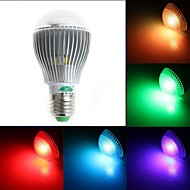 Zweihnde E26/E27 5 W 1 Dip LED 350-400 LM RGB G Dimmable/Remote-Controlled/Decorative Globe Bulbs AC 85-265 V
