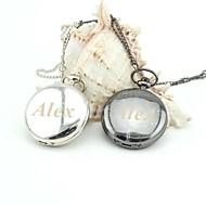 retro relógio de bolso liso colhedores esmalte de metal personalizados