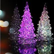 krystall juletre lys fargerike ledet nattlys lite tre lampe