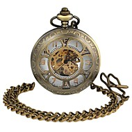 Unisex Hollowed Six Flower-Shaped Round Dial Alloy Waistchain Mechanical Pocket Watch Green Patina  (1Pc) Cool Watches Unique Watches