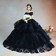 Fête / Soirée Robes Pour Poupée Barbie Noir Robes Pour Fille de Doll Toy