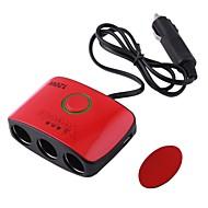 1 do 3 Adapter samochodowy rozdzielacz gniazda w / wyjścia dual-USB (12 ~ 24V)