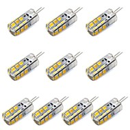 G4 LED Corn Lights T 24 SMD 2835 260 lm Warm White/ White Decorative DC 12 V 10 pcs