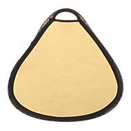 30cm 2-in-1 pyöreä kulta ja hopea kannettavat heijastin