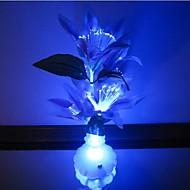 färgglada blommor vas optiska fiber blommor ledde nigth ljus
